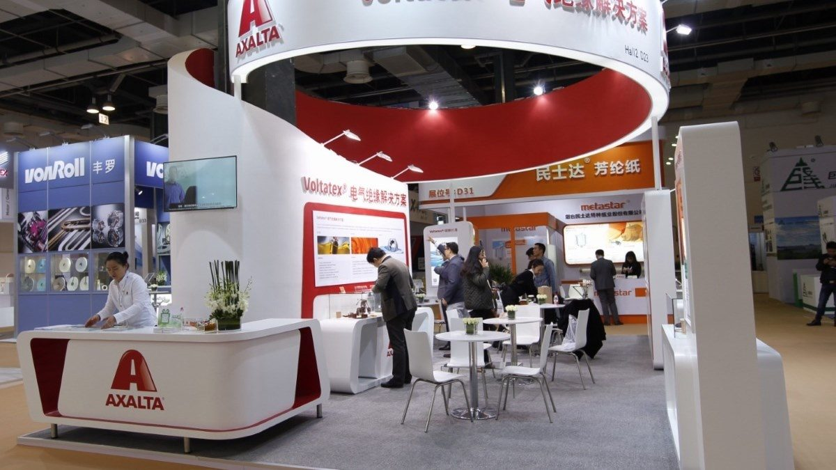 Axalta Energy Solutions booth at CWIEME 2017 in Shanghai