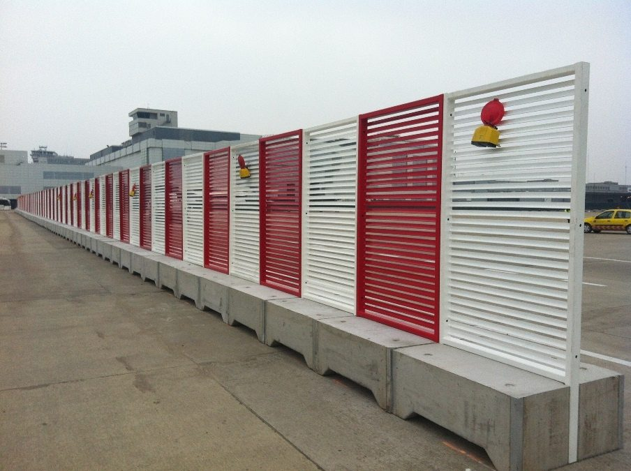 Zaventem Airport metal fences protected with Abcite X60