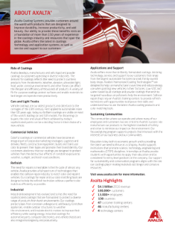 Axalta innovation flyer