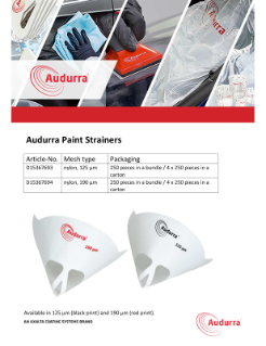 Microsoft Word - Audurra Paint Strainers