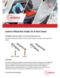 Microsoft Word - Product flyer Audurra Wheel Rim Holder for Paint Stand_SN